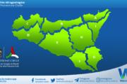 Sicilia: avviso rischio idrogeologico per giovedì 22 aprile 2021