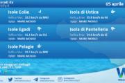 Sicilia, isole minori: condizioni meteo-marine previste per lunedì 05 aprile 2021