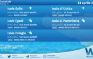 Sicilia, isole minori: condizioni meteo-marine previste per martedì 13 aprile 2021