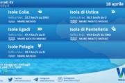 Sicilia, isole minori: condizioni meteo-marine previste per domenica 18 aprile 2021