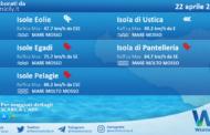 Sicilia, isole minori: condizioni meteo-marine previste per giovedì 22 aprile 2021