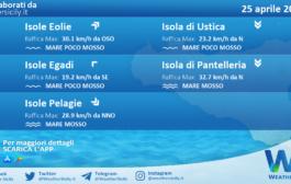 Sicilia, isole minori: condizioni meteo-marine previste per domenica 25 aprile 2021