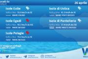 Sicilia, isole minori: condizioni meteo-marine previste per lunedì 26 aprile 2021