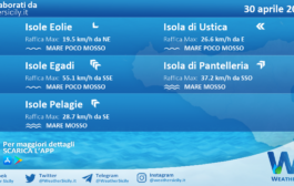 Sicilia, isole minori: condizioni meteo-marine previste per venerdì 30 aprile 2021