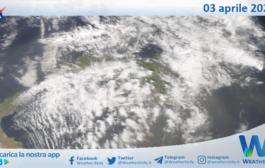 Sicilia: immagine satellitare Nasa di sabato 03 aprile 2021
