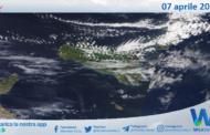 Sicilia: immagine satellitare Nasa di mercoledì 07 aprile 2021