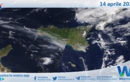 Sicilia: immagine satellitare Nasa di mercoledì 14 aprile 2021