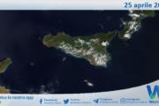 Sicilia: immagine satellitare Nasa di domenica 25 aprile 2021