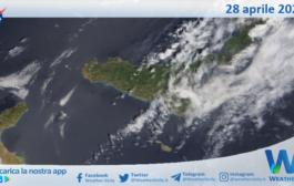 Sicilia: immagine satellitare Nasa di mercoledì 28 aprile 2021