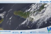 Sicilia: immagine satellitare Nasa di giovedì 29 aprile 2021