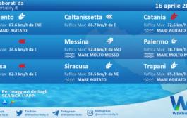 Sicilia: condizioni meteo-marine previste per venerdì 16 aprile 2021