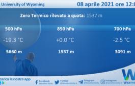 Sicilia: Radiosondaggio Trapani Birgi di giovedì 08 aprile 2021 ore 12:00