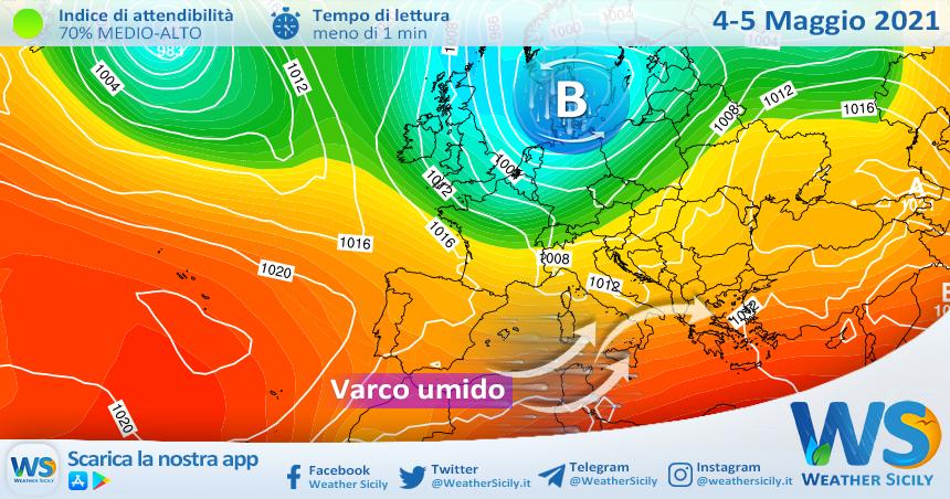 Sicilia, nubi in aumento: nuovo peggioramento mercoledì!