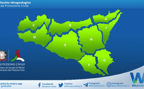 Sicilia: avviso rischio idrogeologico per venerdì 14 maggio 2021