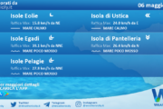 Sicilia, isole minori: condizioni meteo-marine previste per giovedì 06 maggio 2021