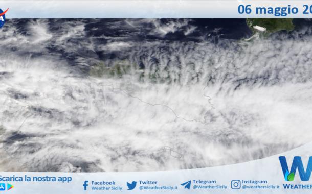 Sicilia: immagine satellitare Nasa di giovedì 06 maggio 2021