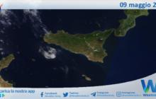 Sicilia: immagine satellitare Nasa di domenica 09 maggio 2021