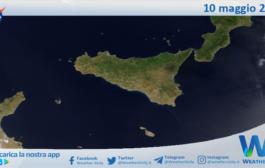 Sicilia: immagine satellitare Nasa di lunedì 10 maggio 2021