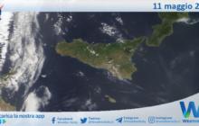 Sicilia: immagine satellitare Nasa di martedì 11 maggio 2021