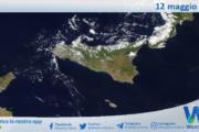Sicilia: immagine satellitare Nasa di mercoledì 12 maggio 2021