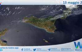 Sicilia: immagine satellitare Nasa di giovedì 13 maggio 2021