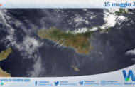 Sicilia: immagine satellitare Nasa di sabato 15 maggio 2021