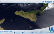 Sicilia: immagine satellitare Nasa di lunedì 17 maggio 2021