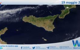 Sicilia: immagine satellitare Nasa di mercoledì 19 maggio 2021