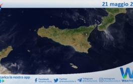 Sicilia: immagine satellitare Nasa di venerdì 21 maggio 2021