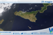 Sicilia: immagine satellitare Nasa di domenica 23 maggio 2021