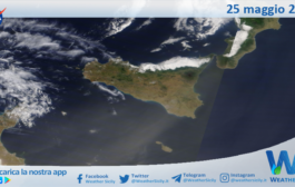 Sicilia: immagine satellitare Nasa di martedì 25 maggio 2021