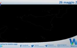 Sicilia: immagine satellitare Nasa di mercoledì 26 maggio 2021