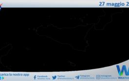 Sicilia: immagine satellitare Nasa di giovedì 27 maggio 2021