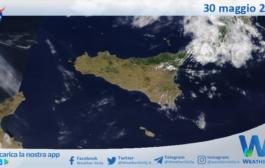 Sicilia: immagine satellitare Nasa di domenica 30 maggio 2021
