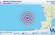 Sicilia: scossa di terremoto magnitudo 3.6 nel Tirreno Meridionale (MARE)
