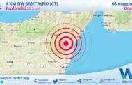 Sicilia: scossa di terremoto magnitudo 3.1 nei pressi di Sant'Alfio (CT)