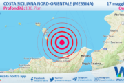 Sicilia: scossa di terremoto magnitudo 2.6 nei pressi di Costa Siciliana nord-orientale (Messina)
