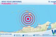 Sicilia: scossa di terremoto magnitudo 3.0 nei pressi di Isole Eolie (Messina)