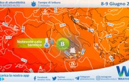 Sicilia: rovesci e temporali in arrivo. Atteso un sensibile calo delle temperature.