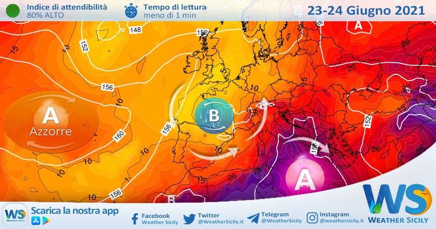 Sicilia, anticiclone africano in gran forma: caldo in aumento!
