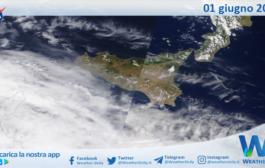 Sicilia: immagine satellitare Nasa di martedì 01 giugno 2021