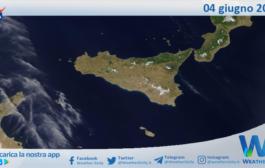 Sicilia: immagine satellitare Nasa di venerdì 04 giugno 2021