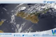 Sicilia: immagine satellitare Nasa di lunedì 07 giugno 2021