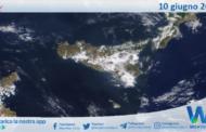 Sicilia: immagine satellitare Nasa di giovedì 10 giugno 2021