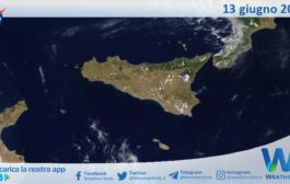 Sicilia: immagine satellitare Nasa di domenica 13 giugno 2021