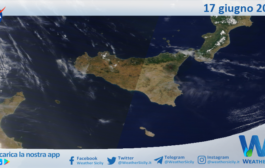 Sicilia: immagine satellitare Nasa di giovedì 17 giugno 2021