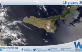 Sicilia: immagine satellitare Nasa di venerdì 18 giugno 2021