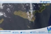 Sicilia: immagine satellitare Nasa di sabato 19 giugno 2021