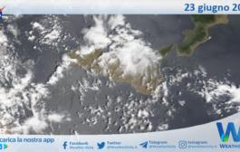 Sicilia: immagine satellitare Nasa di mercoledì 23 giugno 2021