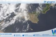 Sicilia: immagine satellitare Nasa di giovedì 24 giugno 2021